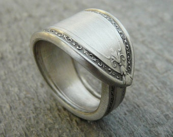 Spoon Ring, Antique Silver Pattern Filagree