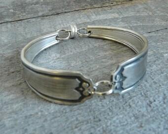 Silver Spoon Bracelet, Nineteen Pattern, Silverware Jewelry