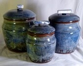 Three Piece Canisters with Sodalite