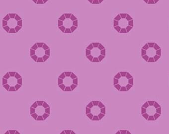 Free Spirit Designer PWDERHI Rhinestone Magenta  Cotton Fabric 1 Yd