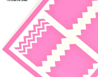 Zig Zag - Tight Chevrons - Nail Decal Sheet 110 pieces for nail art