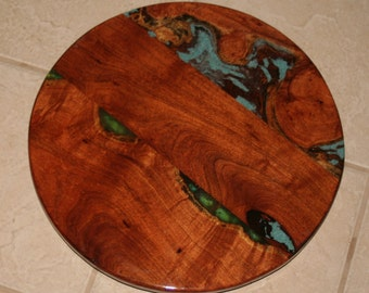 18 inch Lazy Susan with turquoise