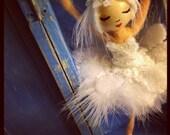 Custom Ordered Odette Ballerina Ornament in Wooden Storage Box