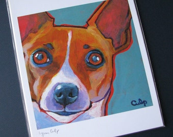 JACK RUSSELL Dog 8x10 Signed Art Print from Painting by Lynn Culp
