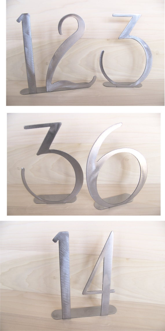 Metal Table numbers for weddings & special events.