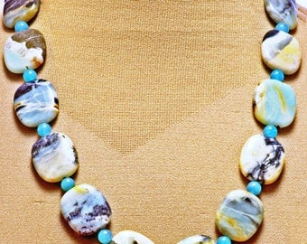 Handsome Double A Necklace - Amazonite and Apatite