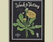 Work for Victory - 11x14 Poster