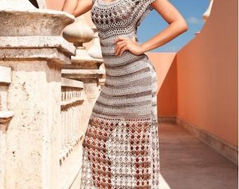 MADE TO ORDER long summer crochet dress - replica