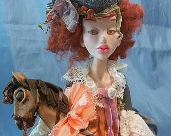 Custom Art Doll Penny Dreadful one of a kind posable Halloween art doll  by Moninesfaeries