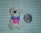 Easter Bunny -  Polymer Clay Pendant -  Ready to Ship