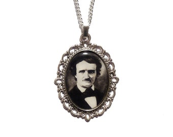 NEW - Edgar Allan Poe necklace steampunk gothic goth, Lenore, The Raven nevermore
