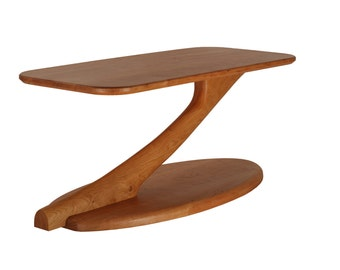 Cantilever Coffee Table Solid Wood Handmade Organic Finish Contemporary modern design
