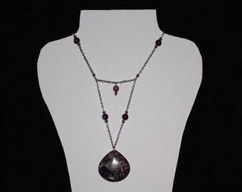 Purple Sea Sediment Jasper Necklace One Of A Kind