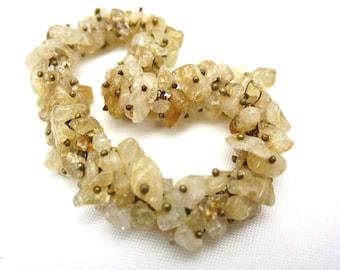 Gold Quartz Bracelet - Chips Stretch ChaCha Bracelet