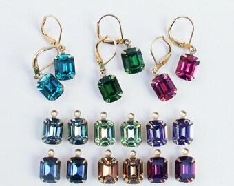 Swarovski Dangle Earrings in a rainbow of colors