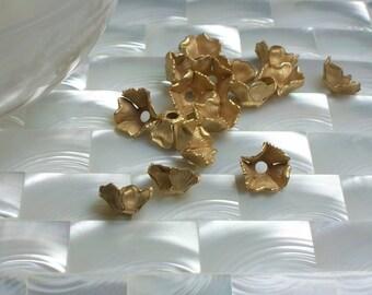 2pcs Bead Cap, Petite Floral Bead Cap, Gold Bead Cap, Jewelry Findings, Jewelry Supplies, Jewellery Supplies