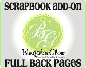 Scrapbook ADD-ON pages, BLANK - custom scrapbook chipboard album pages