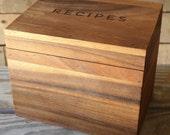 Acacia Wood Recipe Box | Box Only