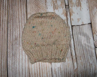 hand knit adult child hat one size fits many