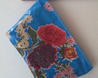 Beth's Large Blue Mum Cosmetic Oilcloth Bag