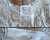 Handmade Embroidered Dress with Tucks & Tatting 1940's
