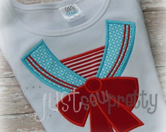 Sailor Girl Collar Machine Embroidery Design