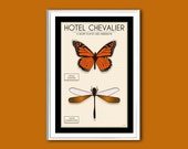 Butterfly Hotel Chevalier movie poster 12x18 inches print