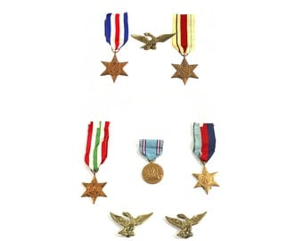 1940's Medal Collection British World War II Stars | Africa | Italy | France | Germany | Etc