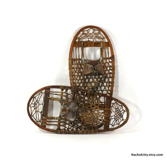 1900s Snowshoes Handmade Natural Materials Vintage By