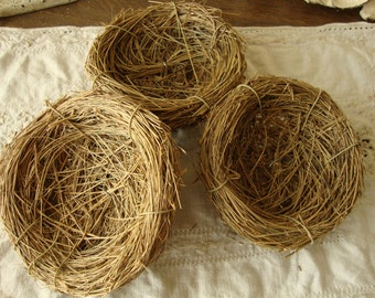 """Twig bird nests 4"""" craft supplies mini birds nests cottage craft projects natural home decor twigs bird decorations"""