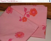 Final Clearance 75% OFF Candy Pink - really fat quarter - upcycled fabric