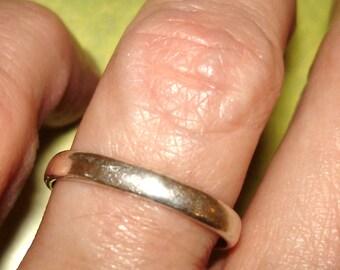 vintage sterling silver finger or toe ring adjustable size 5.5