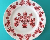 Vintage Hollohaza Hungarian hand painted Plate Tree of Life motif