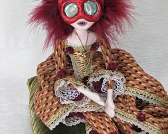 Harlequina Maria – Venetian Masquerade Harlequin Art Doll