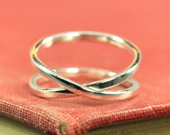 Infinity Ring, Eco Friendly Recycled Silver Ring, Gift for Her, Sea Babe Jewelry