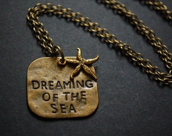 dreaming of the sea starfish necklace