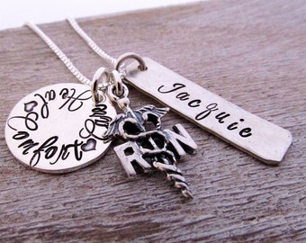 RN Necklace - Registered Nurse Necklace - Personalized RN Jewelry -