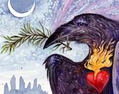 Rosemary is for Remembrance - Heart Raven Goddess Shaman Crow Dolmen Standing Stone Sicily Italian Celtic Nordic Viking