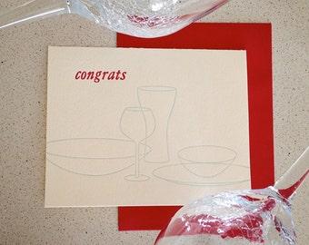SALE! Congrats tablescape letterpress card
