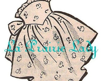 Repro Vintage Apron 50's One Yard Fabric PDF Pattern No 6 Available Size M-L-XL