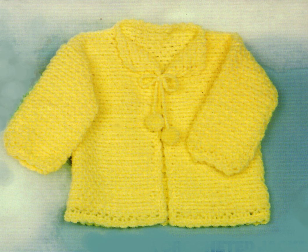 Crochet Patterns Quick : Baby Crochet Pattern QUICK Crochet Baby Sweater Pattern