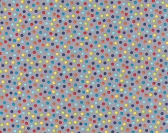Sock Monkey fabric | Monkey Tales | Polka Dots Grey Gray 15073 40 | Quilting Cotton fabric