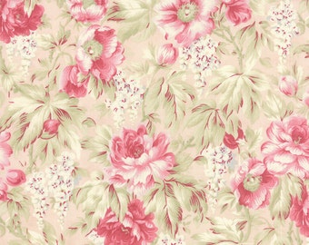 Quilting Cotton fabric   3 Sisters Favorite   Pink on Pink Roses 3768 12