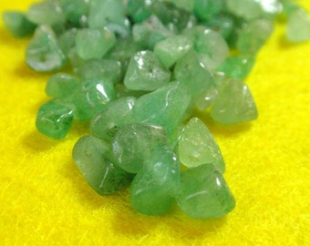 Aventurine Jade Green Chip Nugget Beads Smooth Crystal Beads A7