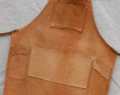 short all cowhide leather work, shop, garden, or bar B Q apron