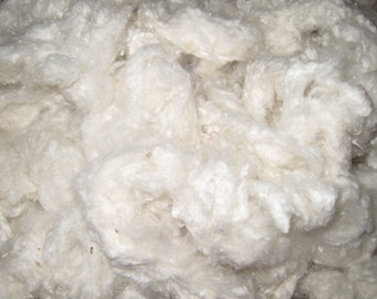 Silk Noil Off White, Soft Silk Noil 2 ounces, Mulberry Silk Noil, Silk Noil for Spinning, Silk for Blending, Silk Noil in Art Quilts, White