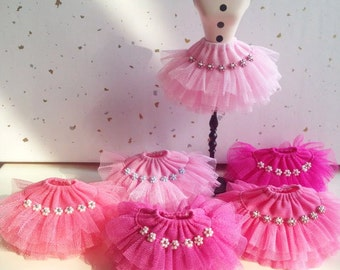 Pink series layered tulle skirt for Blythe Doll