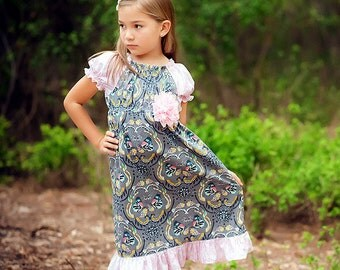 Gray Dress - Winter Dress - Girls Fall Dress