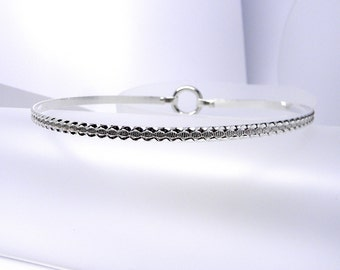 Made To Order -Rippling Rivulet Sterling Silver Slave Collar with Sterling Clasp