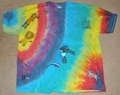Dachshund Wiener Dog Rainbow Tie Dye T Shirt 2X Adult Unisex Wiz Of Dox